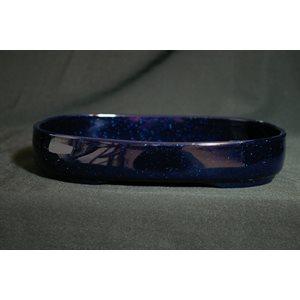 Plastique bleu oval 220 x 160 x 38
