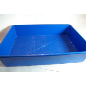 Plastique bleu rectangle 510 x 360 x 105