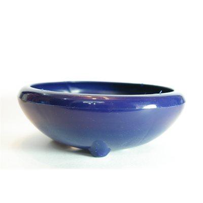 Plastique rond bleu - 171 x 171 x 59 mm