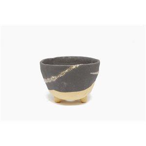 Shigaraki - Rond Noir - 11.5 x H7.5 cm