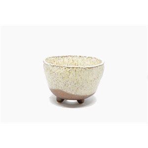 Shigaraki - Round Beige / Brown - 11.5 x H7.5 cm