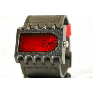 Montre Ferro Noir Mineral Rouge