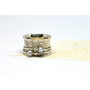 Spinner meditation ring - Perla