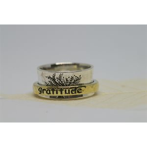 Spinner meditation ring - Gratitude