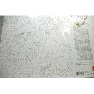 Coloriage créatif - Napperons 48 pcs