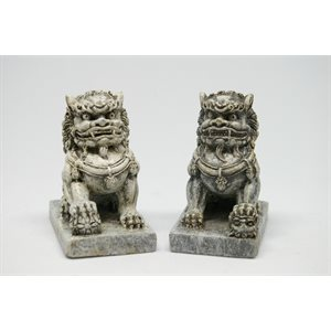 "Foo Dogs 2pcs 2""H"