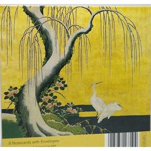 Carte - Ens. 8 cartes Grues japonaises