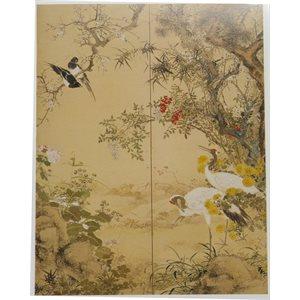 "Carte - Biitsu ""Fleurs et oiseaux"""