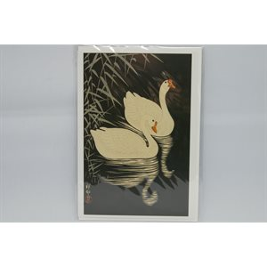 """Card - Shoson """"Two Geese"""""""