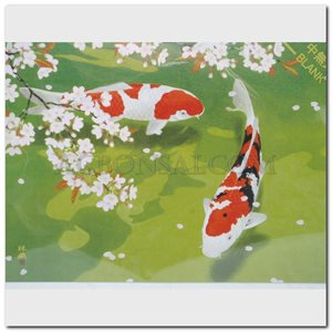 "Card - Murata, Rinzo ""Carps under the Cherry Tree"""