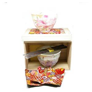 Hana Kaori - 6-pcs set - Bowl /  Chops /  Placemat