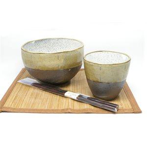 Fuushu Soyo - 4 pcs set - Bowl /  Chops /  Teacup /  Placemat