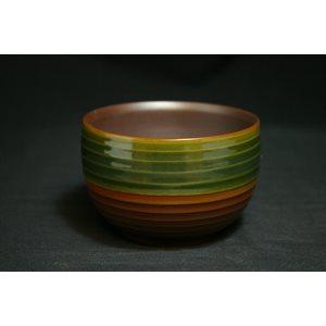 Bol à matcha - Vert / Brun